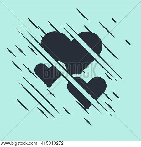 Black Heart Icon Isolated On Green Background. Romantic Symbol Linked, Join, Passion And Wedding. Va