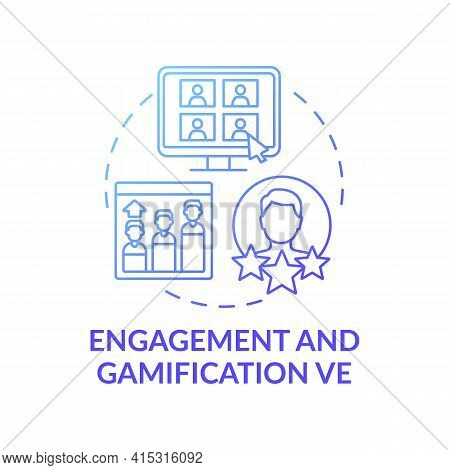 Engagement And Gamification Ve Concept Icon. Virtual Events Type Idea Thin Line Illustration. Boosti