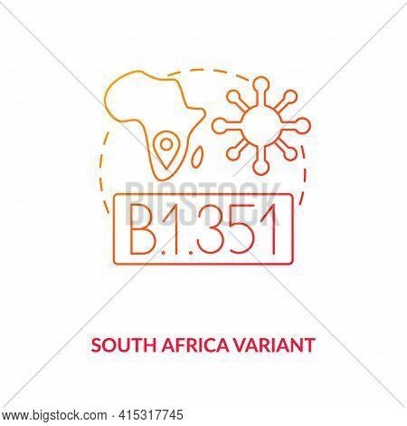 South Africa Variant Concept Icon. Virus Upgrading In Hot Parts Of Planet. Fighting New Mutated Type