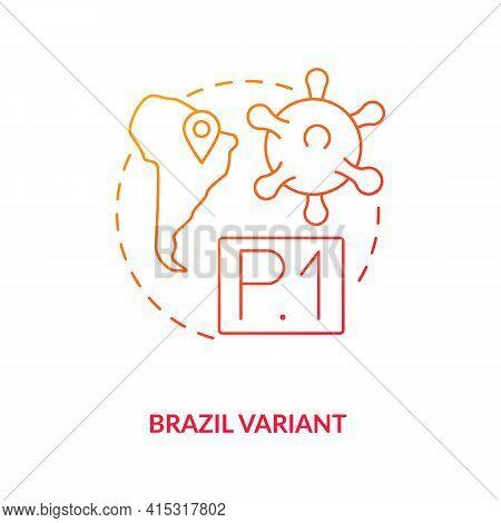 Brazil Variant Concept Icon. New Type Of Corona Virus. Illness Improving Due To Different Environmen