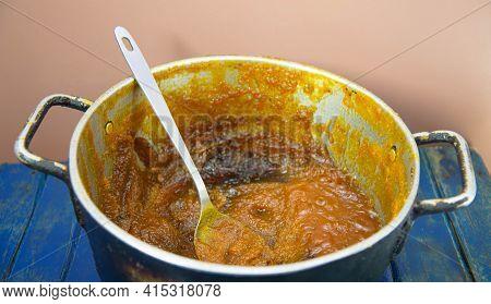 Pumpkin Jam Made In Copper Pot