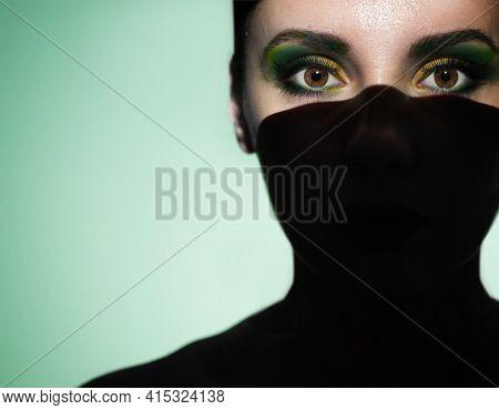 Art portrait of beautiful young woman