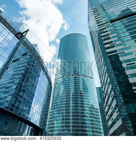 Moscow, Russia - July 12, 2020: Moscow International Business Center Moscow-city. Beautiful Skyscrap