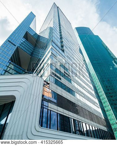 Moscow, Russia - July 12, 2020: Moscow International Business Center Moscow-city. Building Of The Fu