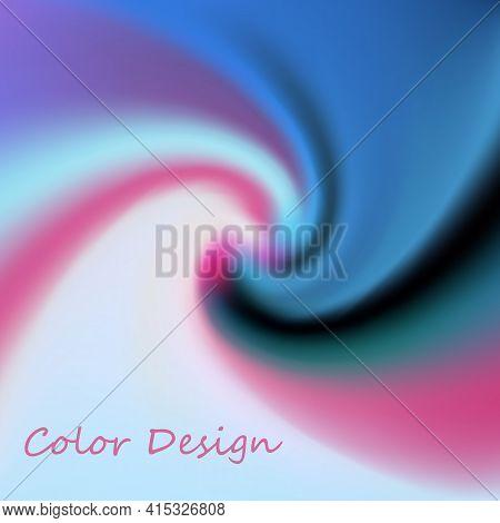 Modern Colorful Flow Poster. Wave Liquid Shape In Blue Color Background. Art Design For Your Design