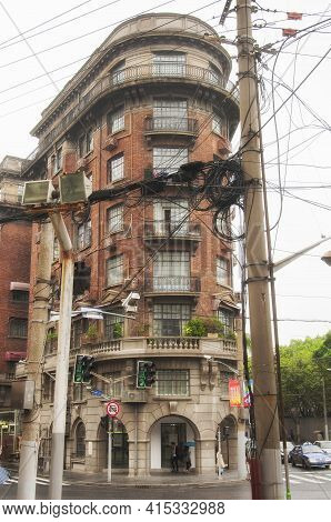 Shanghai, China. October 5, 2015. The Famous Landmark Wukang Mansion Building On Wukong Road On The