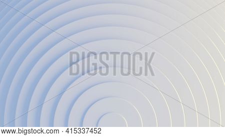 Concentric Circles Pattern On White And Light Blue. Clean, Unobtrusive Abstract Background. Digital