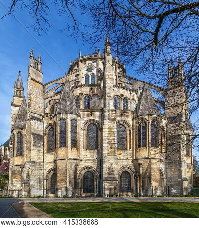 Bourges Cathedral Is A Roman Catholic Church Located In Bourges, France. View From Apse