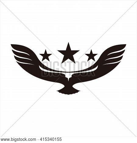 Eagle Icon Eagle Logo Icon Isolated Black On White Background Eagle Icon Wings Eagle Image Vector Ic