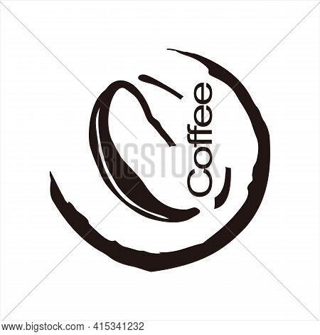 Coffee Carving Icon. Icon With Black Outline Isolated On Transparent Background. Laser Cut Vector Ic