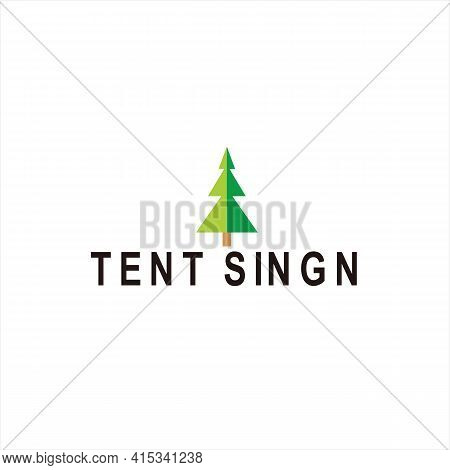 Tent Icon. Icon Isolated On White Background From Tourism Collection, Symbol Tent Icon, Linear Awnin