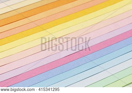 Color Card Palette, Samples For Colour Definition. Guide Of Paint Samples, Colored Catalog