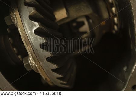 Differential Gear Detail Ready For Reparation In Low Light