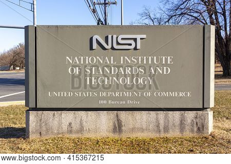 Gaithersburg, Md, Usa 01-30-2021: Entrance Of The Gaithersburg Campus Of National Institute Of Stand