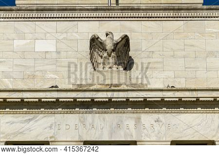 Washington Dc, Usa, 11/06/2020: The Marriner S. Eccles Federal Reserve Board Building (eccles Buildi
