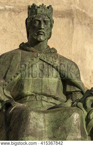 Sancho Iv Of Castile Called The Brave (el Bravo), Was The King Of Castile, Leon And Galicia. Sitting