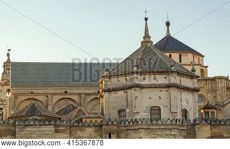Exterior View Of The World Heritage Site Mosque-cathedral Of Cordoba Including Capilla De Santa Tere