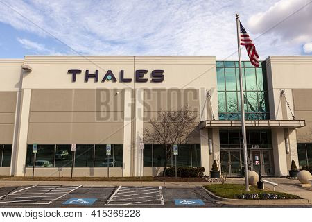 Clarksburg, Md, Usa 01-22-2021: Us Headquarters Of French Defense, Security And Aerospace Company Th