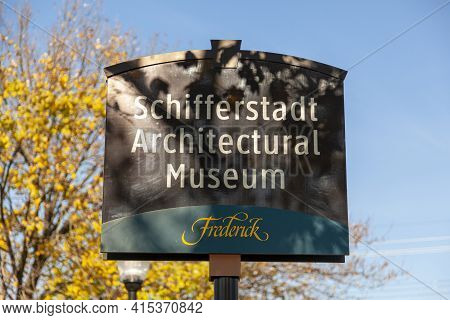 Frederick Md,usa 11.24.2020: Schifferstadt House (now Serving As An Architectural Museum) Is The Old