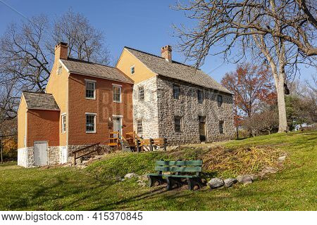 Built In 1758 In Frederick Maryland, Schifferstadt House (now Serving As An Architectural Museum) Is
