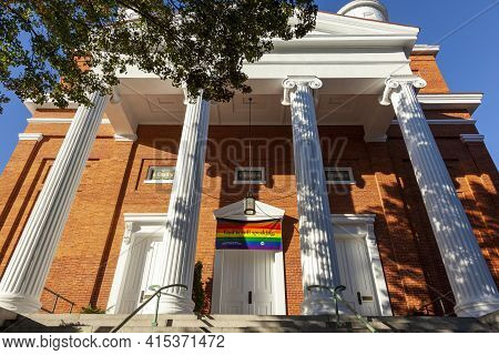 Frederick, Md, Usa 10/13/2020: Historical Building Of Evangelical Reformed United Church Of Christ I