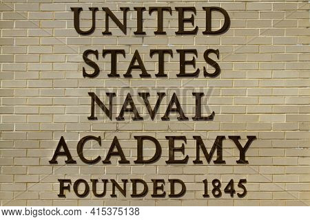 Annapolis, Md 08/21/2020: View Of Thenaval Academy In Annapolis, Md . Image Shows United States Nava