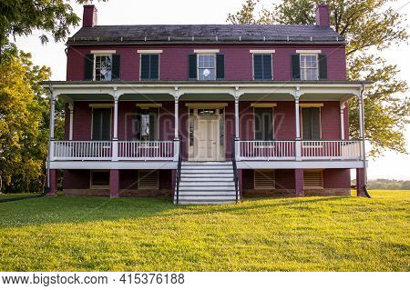Maryland, Usa 08//05/2020: View Of Worthington House, A Historic Building That Was Located At Monoca