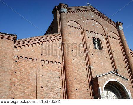 Abbey Of Nonantola. Abbazia Di Nonantola. Medieval Monastic Building Seat Of An Important Benedictin
