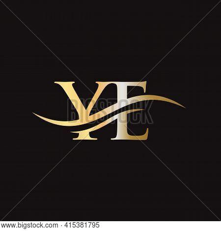 Ye Logo Design. Initial Ye Letter Logo Design.