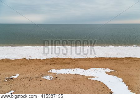 This Is A View Of The Sea Of Azov In Winter.