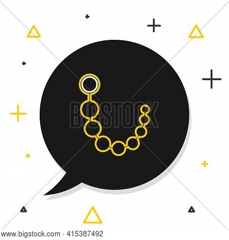 Line Anal Beads Icon Isolated On White Background. Anal Balls Sign. Fetish Accessory. Sex Toy For Me