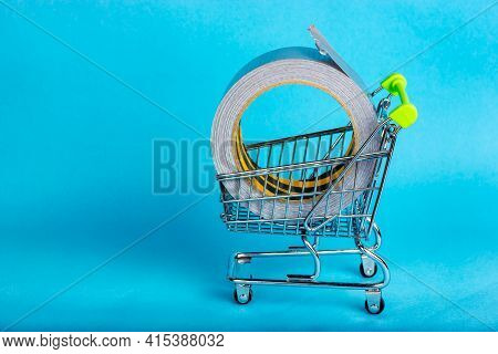 Duct Tape Queens In A Shopping Cart. Buy Packing Adhesive Tape.