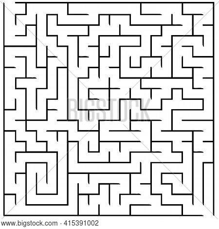 Vector Illustration Of Maze Labyrinth. Isolated On White Background, Eps 10