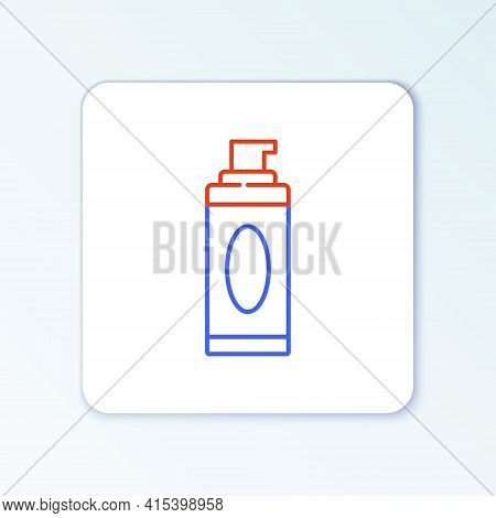 Line Shaving Gel Foam Icon Isolated On White Background. Shaving Cream. Colorful Outline Concept. Ve
