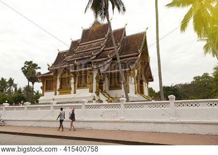 Haw Pha Bang Ho Pha Bang Is Located At The Royal Palace Museum, Luang Prabang, Laos