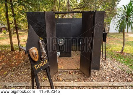 Chaing Rai, Thailand - March 3,2021 : Toilet In Thawan Duchanee Collection Museum Or Black House In