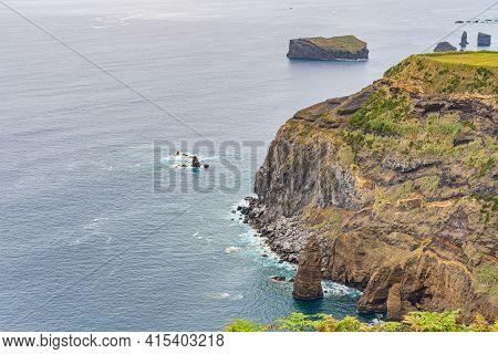 Beautiful Coastal View And Atlantic Ocean, Mosteiros, Sao Miguel, Azores, Portugal