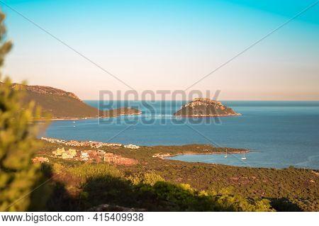 Mesmerizing Panoramic View Of The Rocks And Beaches Of The Iland Of Sardinia.north Of Sardinia
