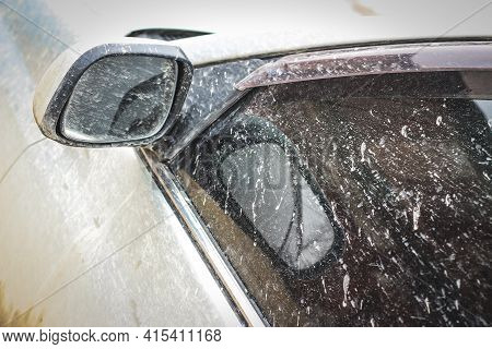 Dirt On The Car - Close-up View