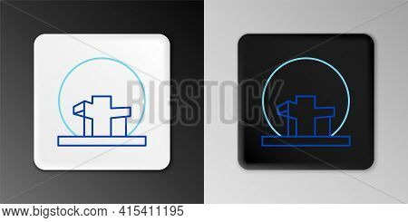 Line Montreal Biosphere Icon Isolated On Grey Background. Colorful Outline Concept. Vector