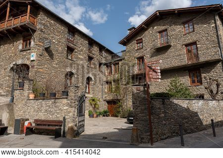 Ordino, Andorra: 2021 March 30: Hotels In Spring In Ordino, Andorra In The Pyrenees In 2021.