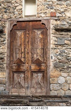 Ordino, Andorra: 2021 March 30: Chapel Of The Rossell House In Spring In Ordino, Andorra In The Pyre