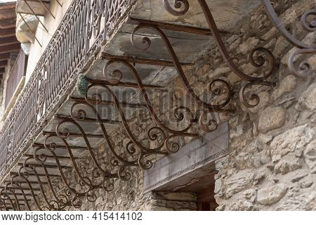 Ordino, Andorra: 2021 March 30: Museum Casa De Areny-plandolit In Spring In Ordino, Andorra In The P
