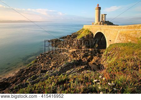 Petit Minou Lighthouse Near Brest City, Bretagne