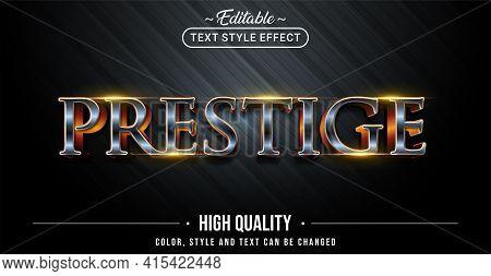 Editable Text Style Effect - Prestige Text Style Theme. Graphic Design Element.