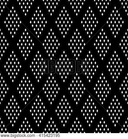 Seamless Geometric Diamonds Patternt With Rhombuses Dots Texture. Vector Art.