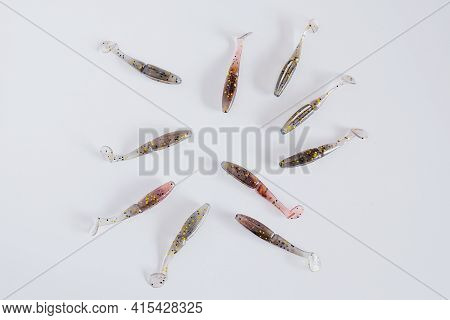Soft Plastic Twister Baits. Scented And Salted Silicone Bait Lures For Catching.