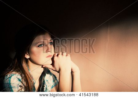 Woman Suffering From A Severe Depression