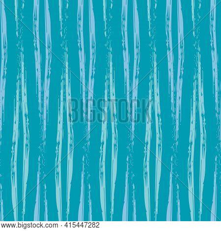 Vector Wicker Weave Effect Seamless Interlace Pattern Background. Wide Painterly Ribbon Plait Lattic