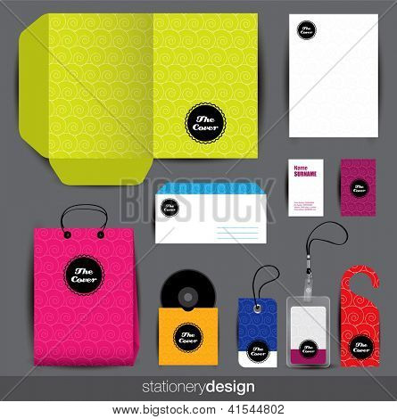 Stationery design set. Editable vector format in portfolio.